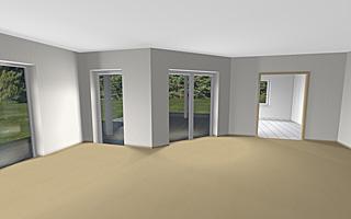 Einfamilienhaus neubau winkelbungalow 123 12 video 1 for Einfamilienhaus innenansicht